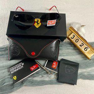 NWT Ray-Ban 3026 Ferrari Combined Black Sunglasses